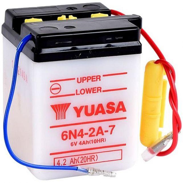 Batterie YUASA 6N4-2A-7  avec entretien