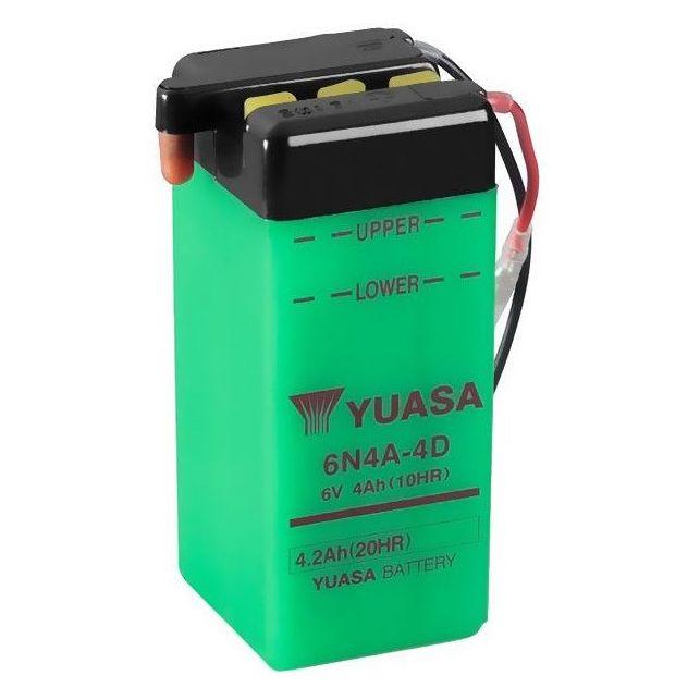 Batterie YUASA 6N4A-4D  avec entretien