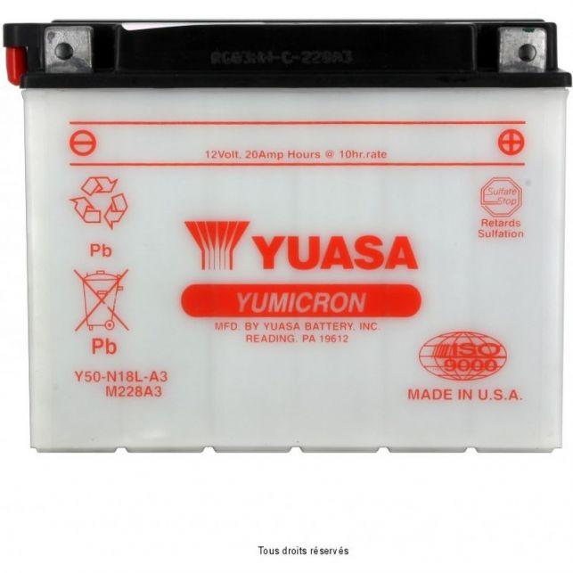 Batterie YUASA Y50-N18L-A3 avec entretien
