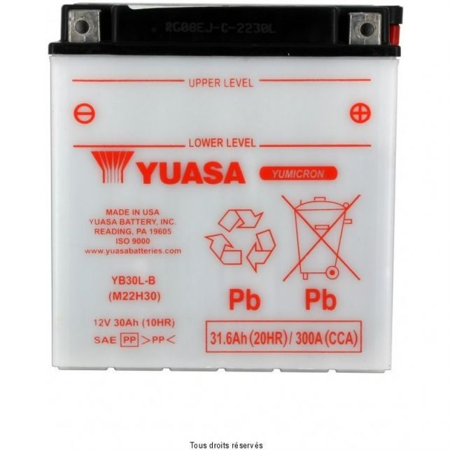 Batterie YUASA YB30L-B avec entretien