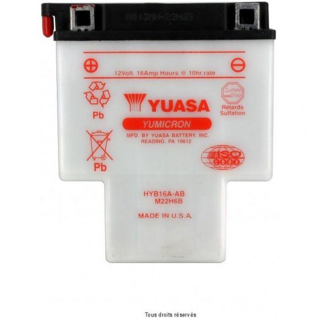 Batterie YUASA HYB16A-AB avec entretien