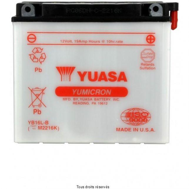 Batterie YUASA YB16L-B avec entretien