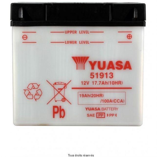 Batterie YUASA 51913 avec entretien