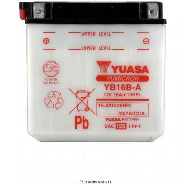 Batterie YUASA YB16B-A avec entretien