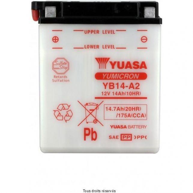 Batterie YUASA YB14-A2 avec entretien