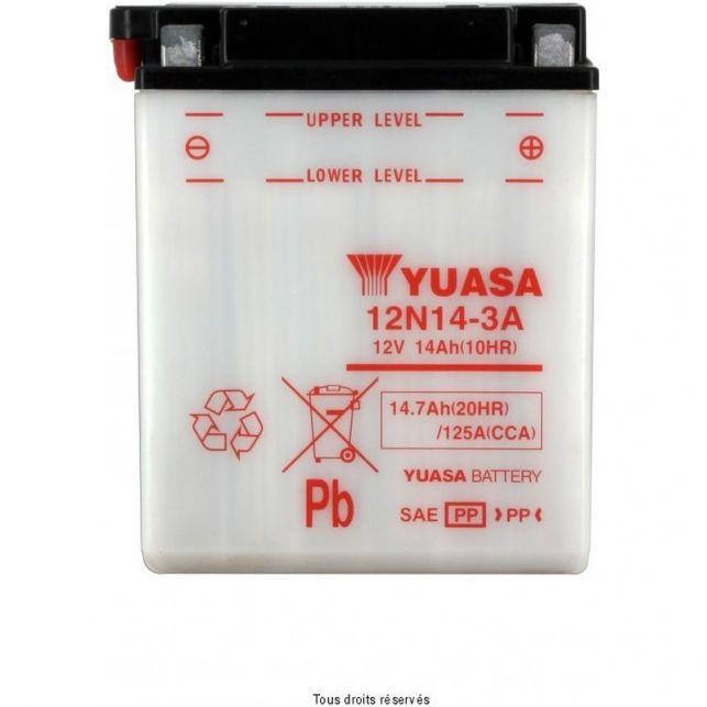 Batterie YUASA 12N14-3A avec entretien