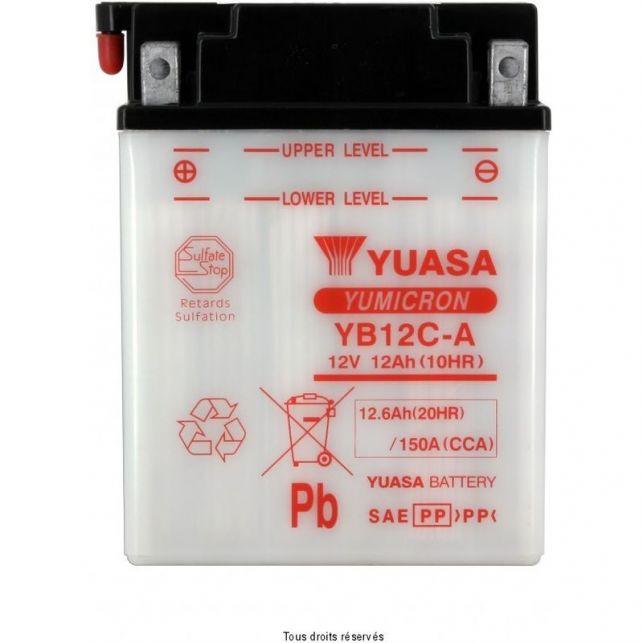 Batterie YUASA YB12C-A avec entretien