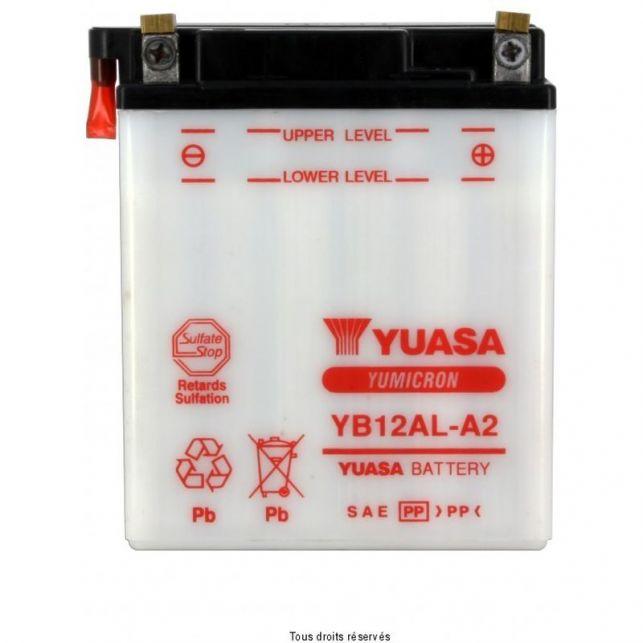 Batterie YUASA YB12AL-A2 avec entretien