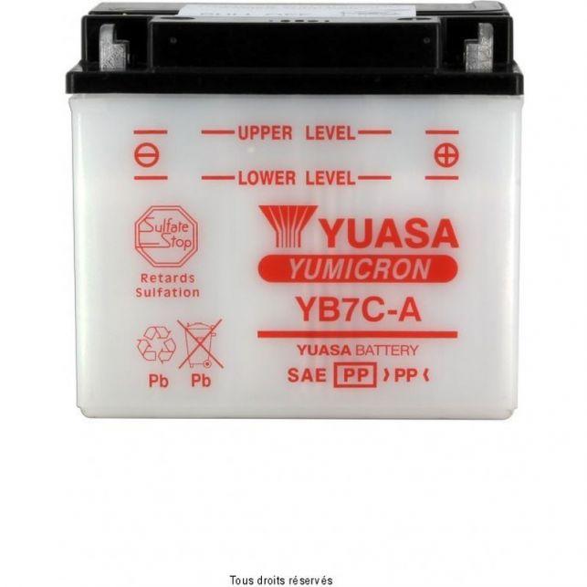 Batterie YUASA YB7C-A avec entretien