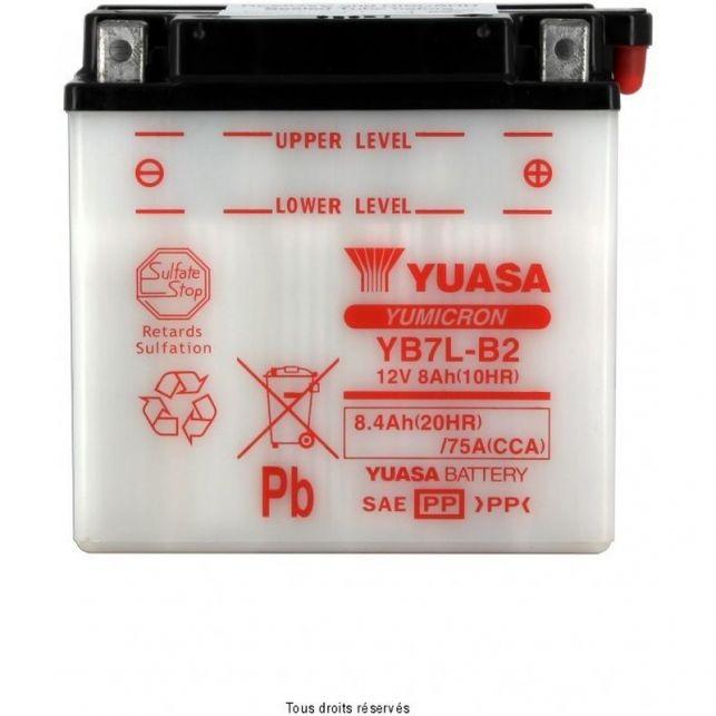 Batterie YUASA YB7L-B2 avec entretien