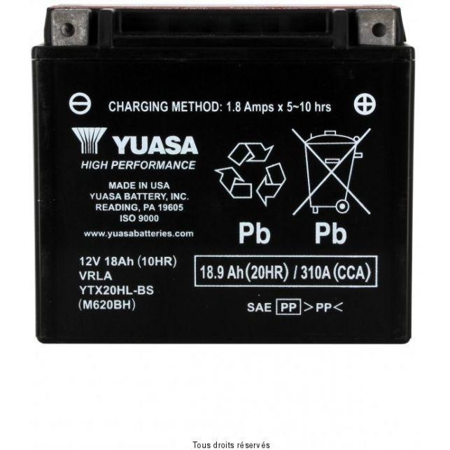 Batterie YUASA YTX20HL-BS sans entretien