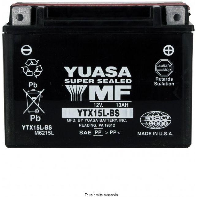 Batterie YUASA YTX15L-BS sans entretien