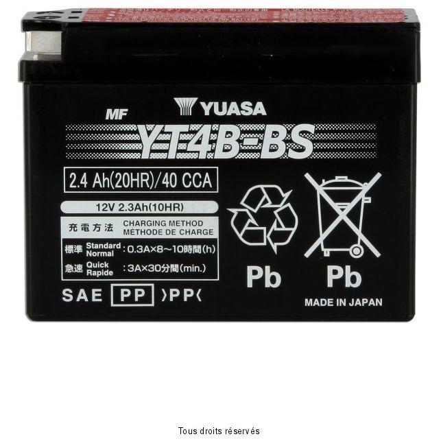 Batterie YUASA YT4B-BS sans entretien