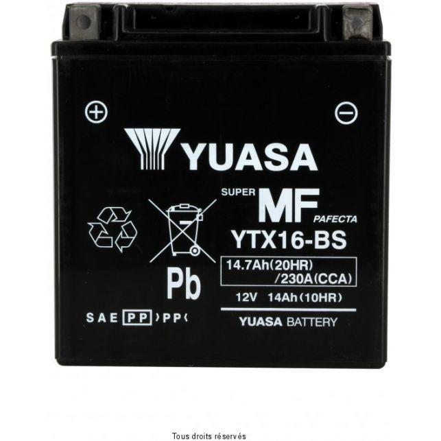 Batterie YUASA YTX16-BS sans entretien