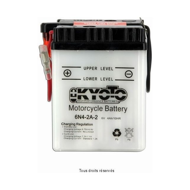 Batterie KYOTO 6N4-2A-2 avec entretien