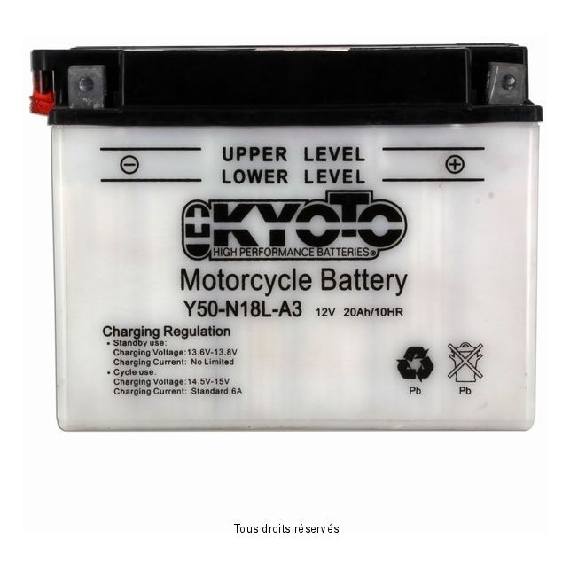 Batterie KYOTO Y50-N18L-A3 avec entretien