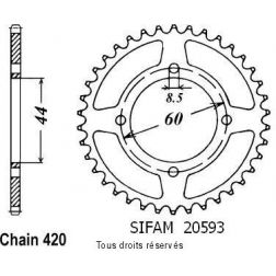 Couronne 50 à boite 20593CZ44 pour YSR 50 86-92