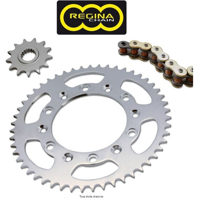 Kit chaine REGINA Honda Slr 650 Super Oring An 97 98 Kit 14 43
